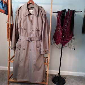 London Fog Double Breasted Trench Coat Jacket 48R
